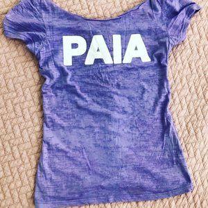 "💜 Hawaiian | Burnout ""Paia"" Short Sleeve Top"